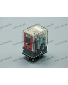 RELAY-24VDC, 4PDT, 5A, DIN RAIL MOUNT